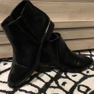 ZARA patent leather booties (size 38 / 8 narrow)